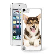 For Apple iPod Touch 5th / 6th Generation Hard Back Case Cover Corgi Puppy Dog (White)