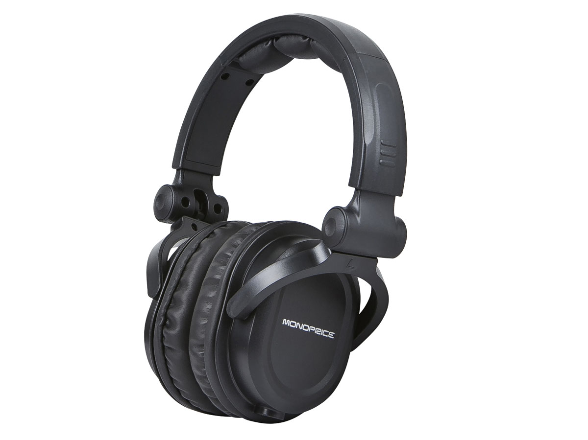Monoprice Premium Hi-Fi DJ Style Over-the-Ear Pro Headphones with Mic by Monoprice