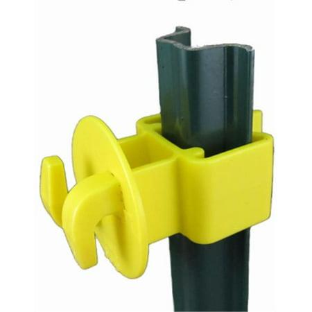 Dare Products SNUG-LGU-25 Electric Fence U-Post Insulator, Light Duty, Yellow, 25-Pk.