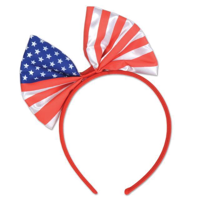 Beistle 54784 Patriotic Bow Headband, Orange & Blue - Pack of 12 - image 1 de 1