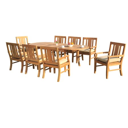 (9 PC A Grade Outdoor Patio Teak Dining Set - 94