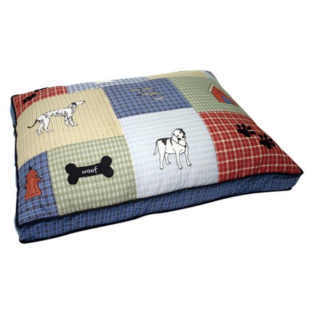 Petmate- Quilted Classic Dog Applique Dog Bed