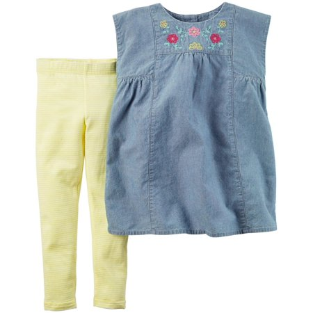 Carter's Baby Girl's Clothing Set 2 Piece Playwear 239G134 Denim
