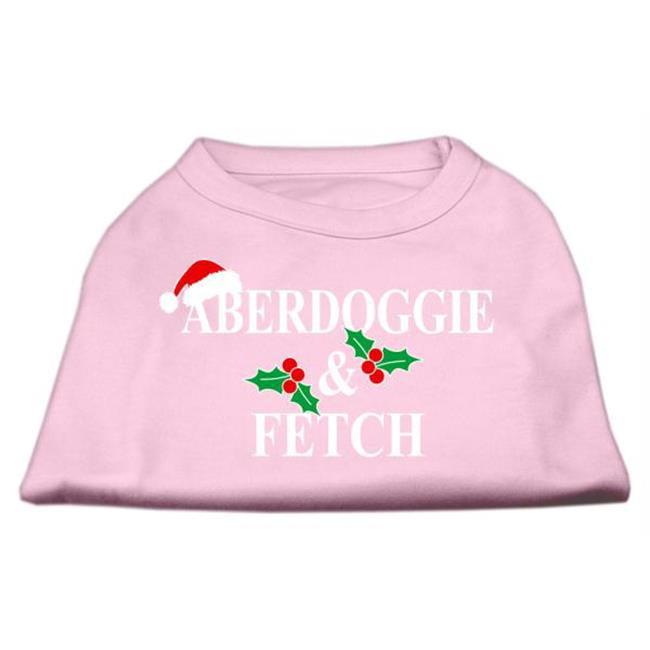 Aberdoggie Christmas Screen Print Shirt Light Pink Xxl (18) - image 1 de 1
