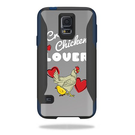 Skin Compatible With OtterBox Commuter Samsung Galaxy S5 Case – Crazy Chicken Lover | MightySkins Protective, Durable, and Unique Vinyl Decal wrap cover | Easy To Apply, Remove | Made in the