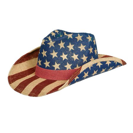 American Flag Cowboy Hat USA Patriotic US United States of America Western - Patriotic Hat