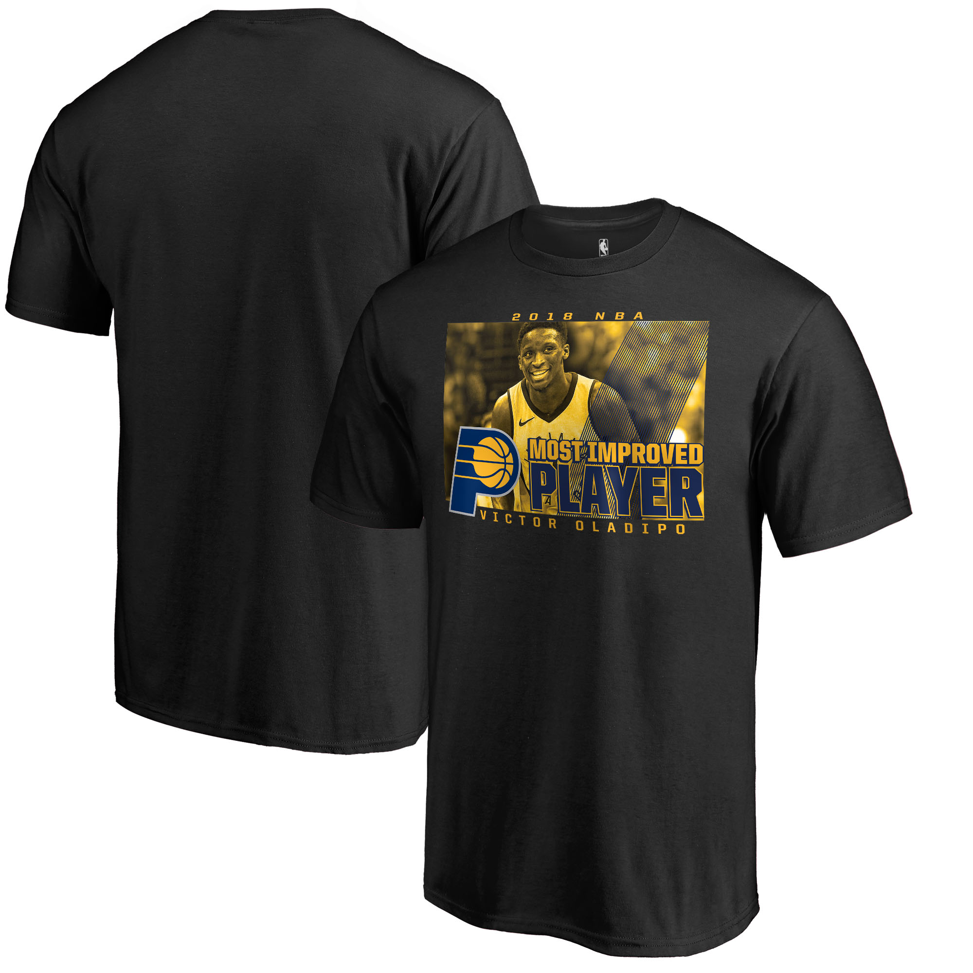 Victor Oladipo Indiana Pacers Fanatics Branded 2018 NBA Most Improved Player T-Shirt - Black