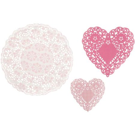 Talking Tables Package of 30 - Pink Paper Doilies