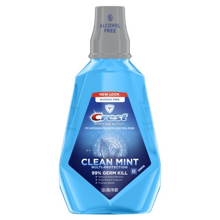 Crest Pro-Health Mouthwash, Alcohol Free, Clean Mint Multi-Protection, 1.5 L (50.7 fl oz)