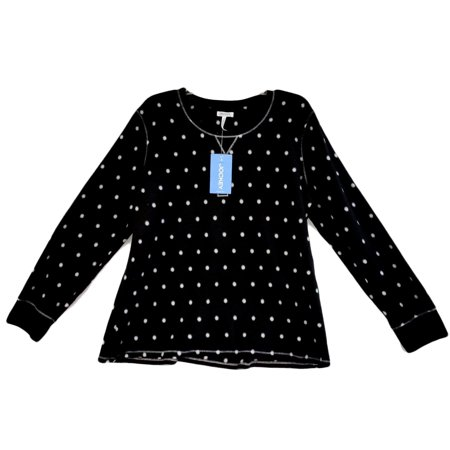 - Jockey Women's Sleepwear Micro Fleece Sleep Henley T-Shirt Polka Dot JO5862