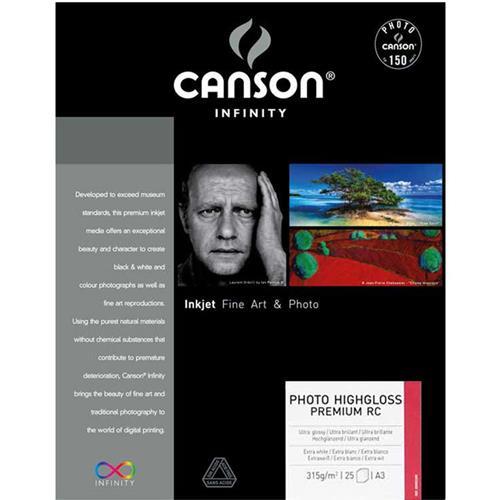 "Infinity Photo HighGloss Premium RC 315gsm Inkjet Paper, 13x19"", 25 Sheets"