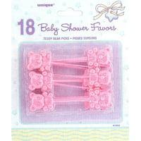 Baby Shower Pink Teddy Bear Picks.