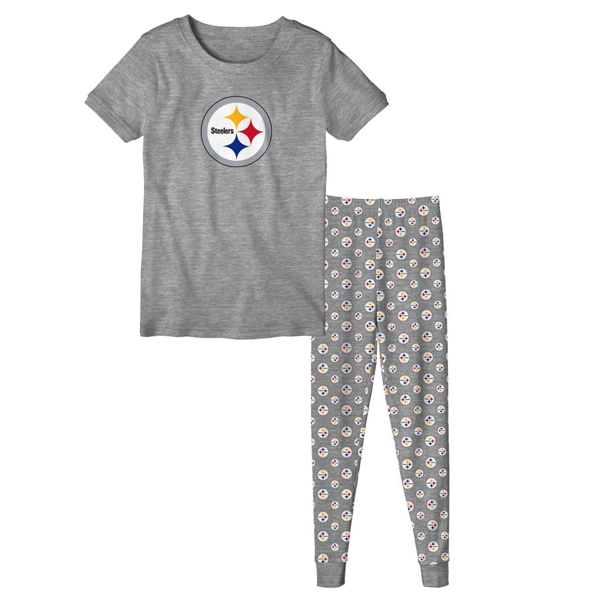 "Pittsburgh Steelers Youth NFL ""Playoff Bound"" Pajama T-shirt & Sleep Pant Set"