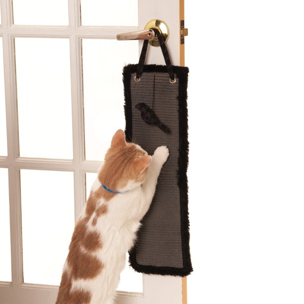 Max & Marlow Scratch Pad Door Hanging, Gray Sisal
