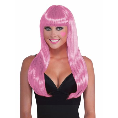 Pink Long Wig Halloween Costume Accessory for $<!---->