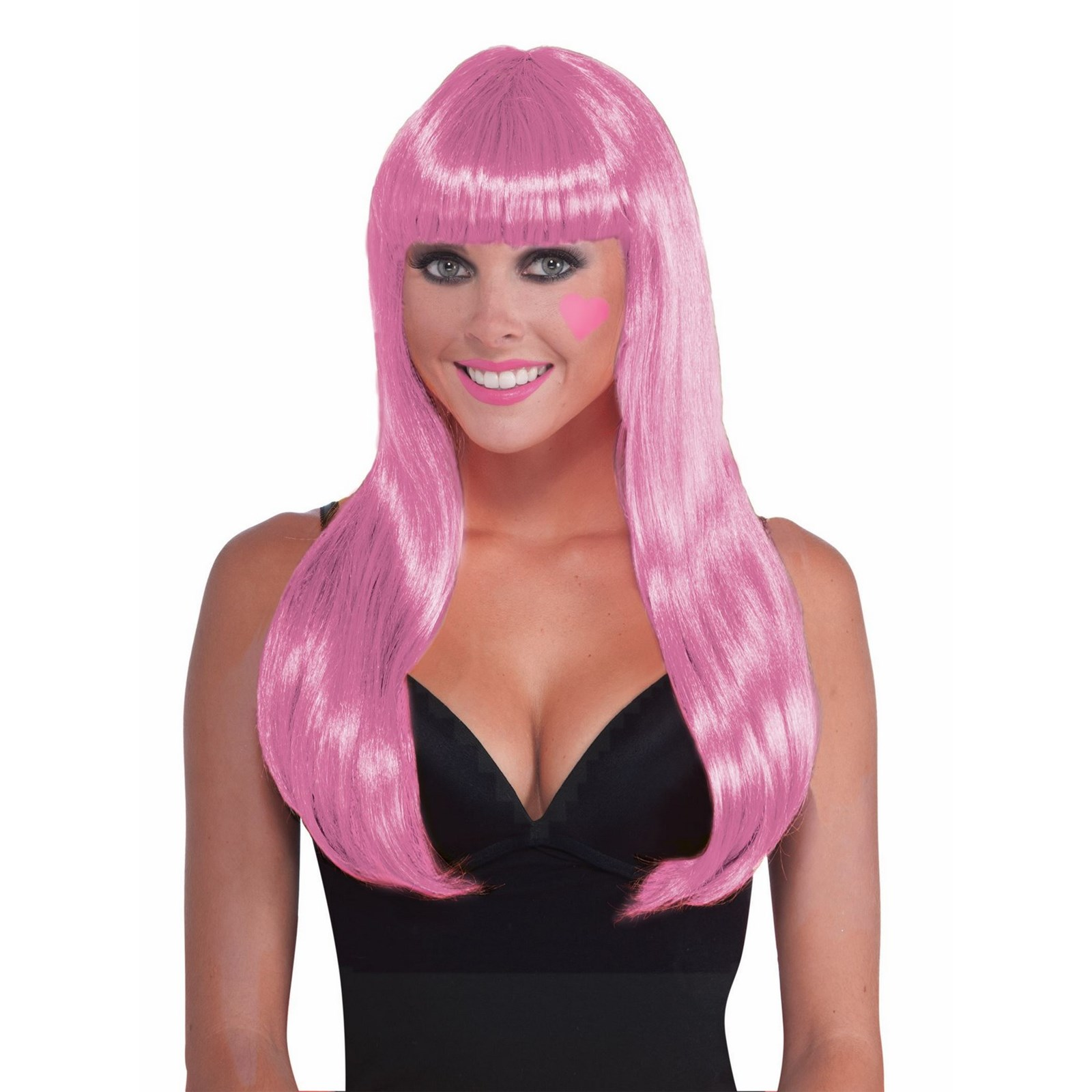 Pink Long Wig Halloween Costume Accessory