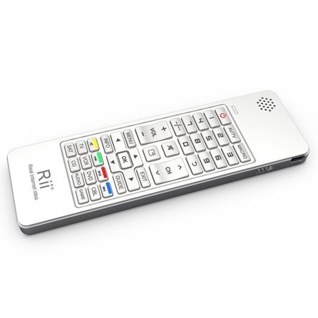 Rii 4 In 1 Wireless Multimedia Air Fly Mouse Keyboard  White  Mini I13