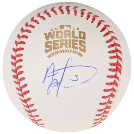 Albert Almora Chicago Cubs 2016 Mlb World Series Champions Autographed World Series Logo Baseball