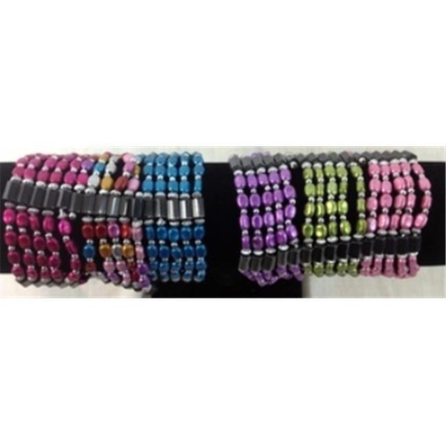 DDI 1301664 Magnetic Hematite Bean Shaped Bead Bracelet Case of 60