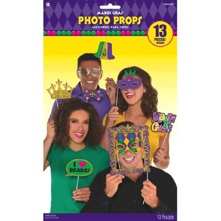 Mardi Gras Photo Prop Kit 13 Pc (Mardi Gras Ball Gowns)