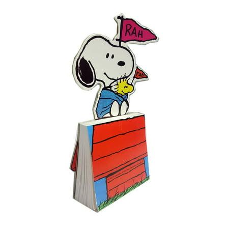 Peanuts Snoopy & Woodstock Rah Rah Stand-up Notepad