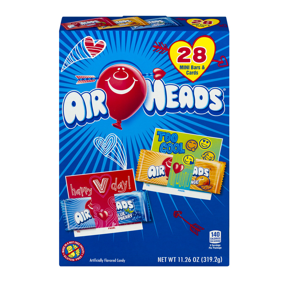 Image of Air Heads Mini Bars & Cards - 28 CT