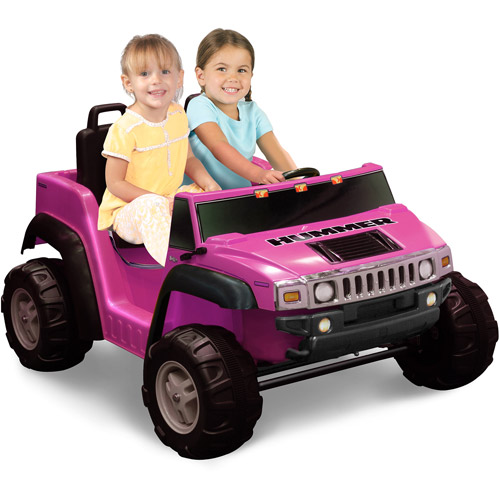 Kid Motorz Two-Seater Hummer H2 Girls' 12-Volt Battery-Operated Ride-On, Pink
