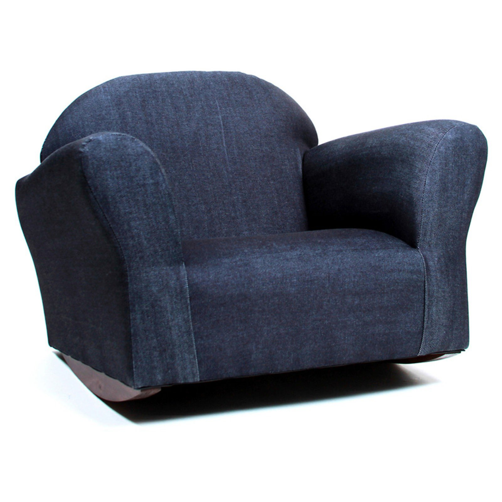 Keep Bubble Denim Kids Rocking Chair