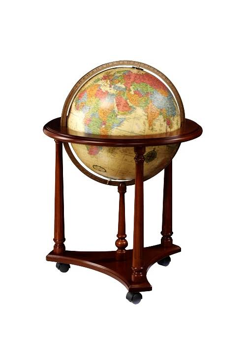 Lafayette Antique Style 16 Inch Floor Globe w Illumination by Replogle Globes