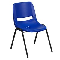 Lancaster Home Blue or Black Plastic Stack Chair