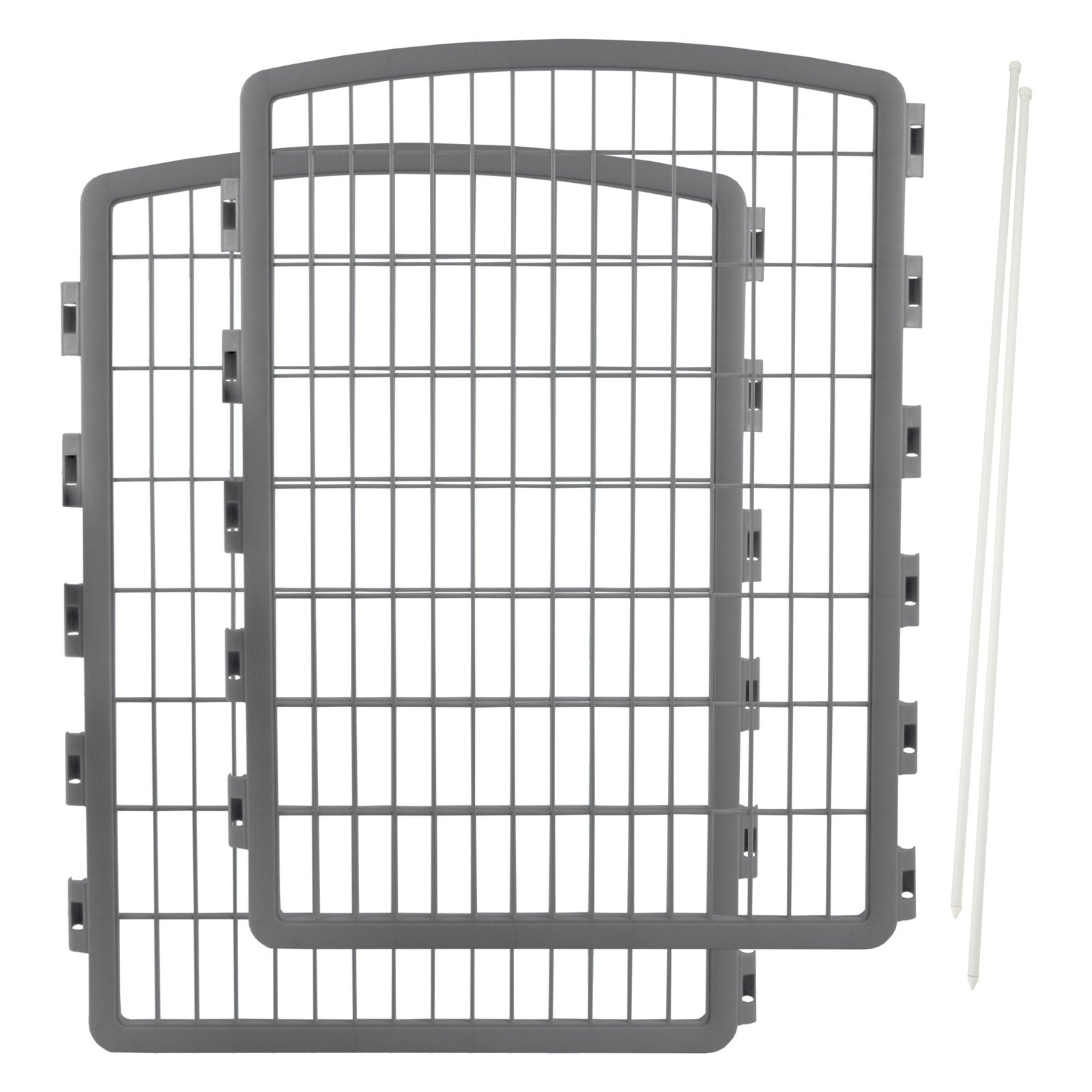 IRIS CI-908 Pet Pen Expansion Kit 2-Pack, Gray