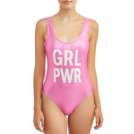 Junior Girls Swimwear - Juniors' Girl Power One Piece Swimsuit