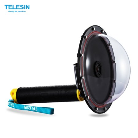TELESIN Upgrade Dome Port Accessory for Gopro Hero 4 / 3+/ 3 Diving Camera with Floaty Grip (Go Pro Hero 4 Accessories Scuba)