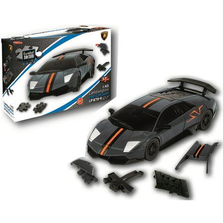 Lamborghini LP 670 - Carbon Grey 3D Jigsaw Puzzle Car -
