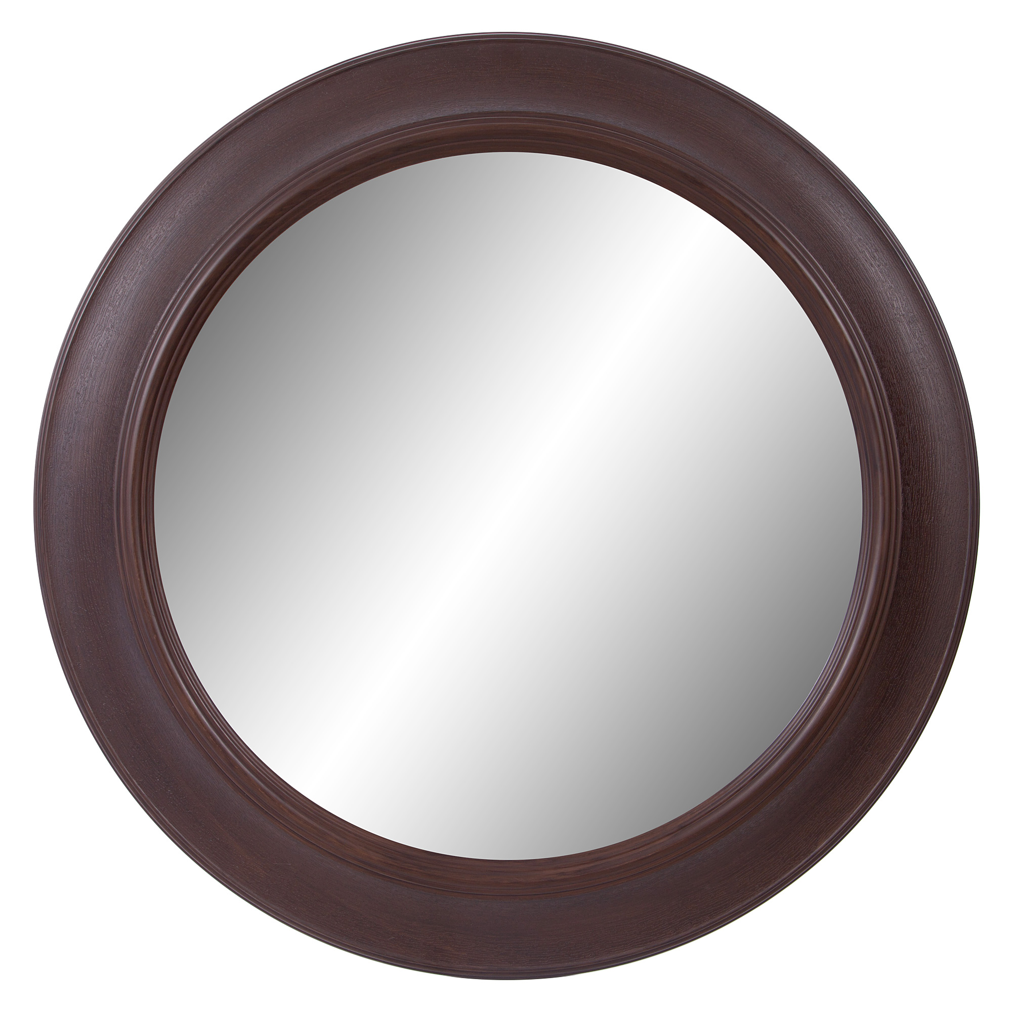 Patton Wall Decor 30 Inch Bronze Woodgrain Round Mirror