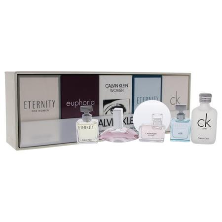 Calvin Klein Mini Perfume Gift Set for Women, 5 Pieces