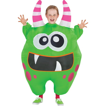 Green Inflate Scareblown Child Halloween - Inflated Costumes