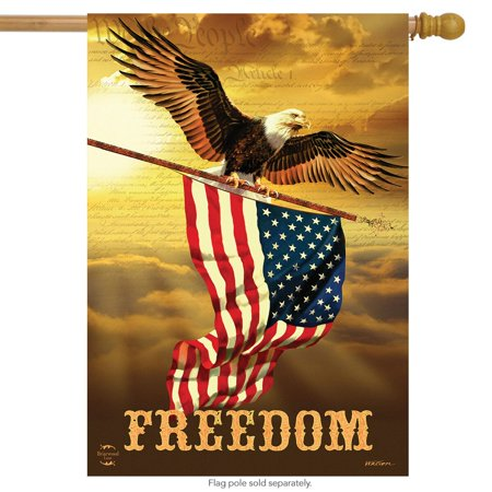Freedom Patriotic House Flag Bald Eagle USA 28