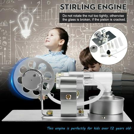 Mini Hot Air Stirling Engine Model Toy Physics Experiment Education Assembling Kit New
