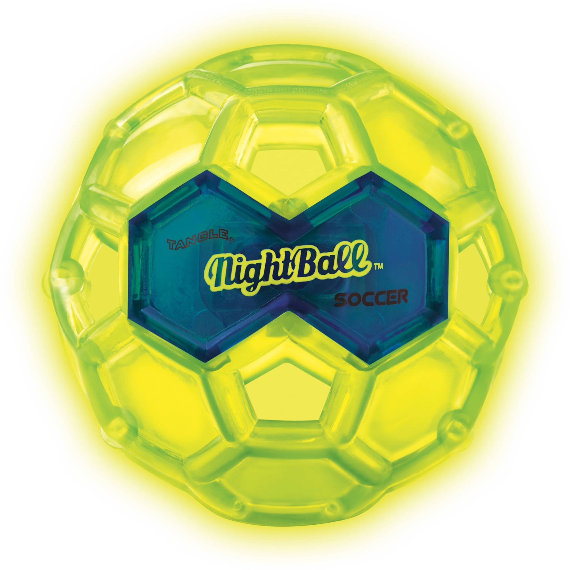 Tangle NightBall Soccer, Electric Green, Large by Tangle