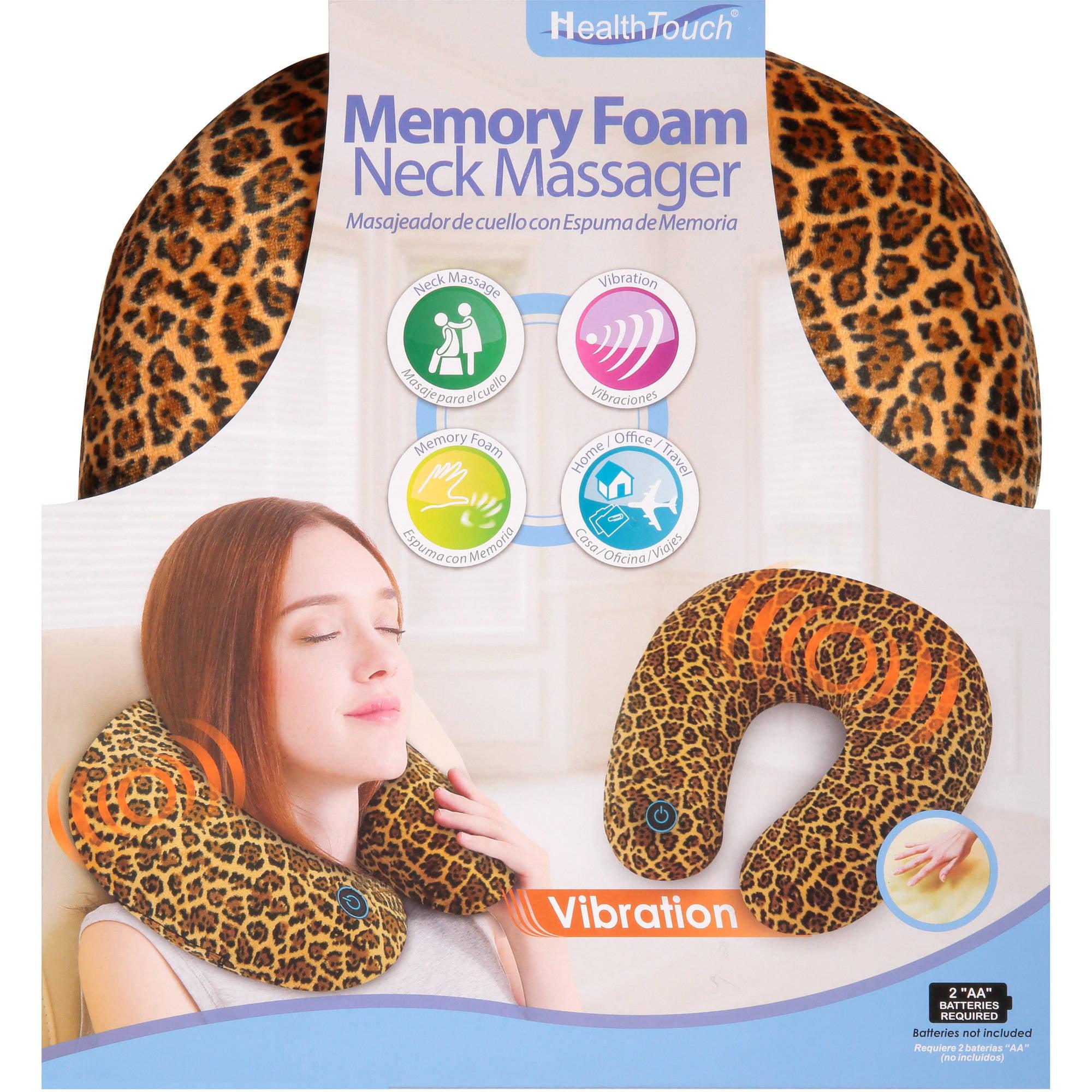 Health Touch Memory Foam Neck Massager, Cheetah