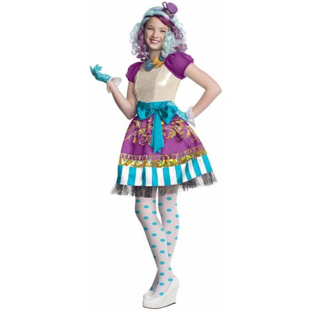 Ever After High Madeline Hatter Girls' Child Halloween Costume](Halloween Mad Hatter Makeup)