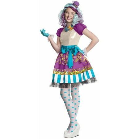 Ever After High Madeline Hatter Girls' Child Halloween Costume](Basic White Girl Halloween Costume Ideas)