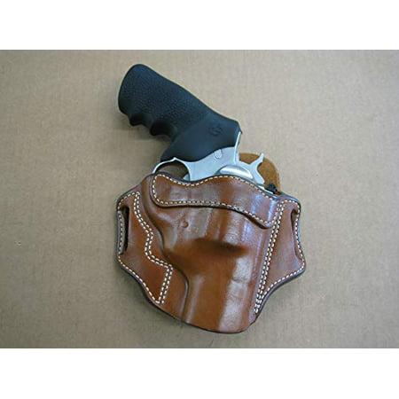 Azula OWB Leather 2 Slot Molded Pancake Belt Holster for Ruger Super Redhawk Alaskan Revolver CCW TAN Left (Holster For Ruger Redhawk 44 Mag With Scope)