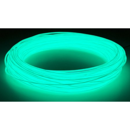 GlowCity Portable Light Up 2 6mm 100 ft El Wire Kit With A/C