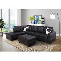 Black Sectional Sofas - Walmart.com