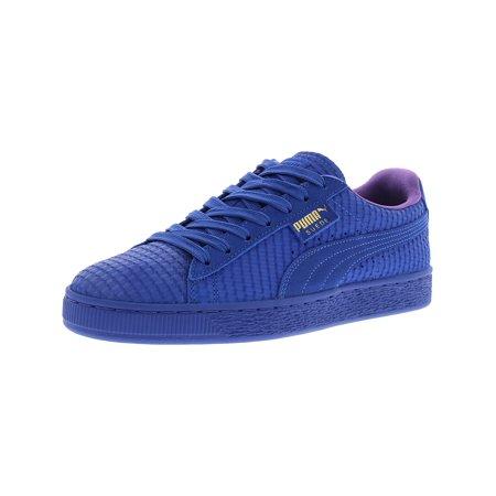new product 2afc3 bb666 PUMA - Puma Men s Suede Classic Archive Aop Royal   Team Gold Ankle-High  Fashion Sneaker - 10M - Walmart.com