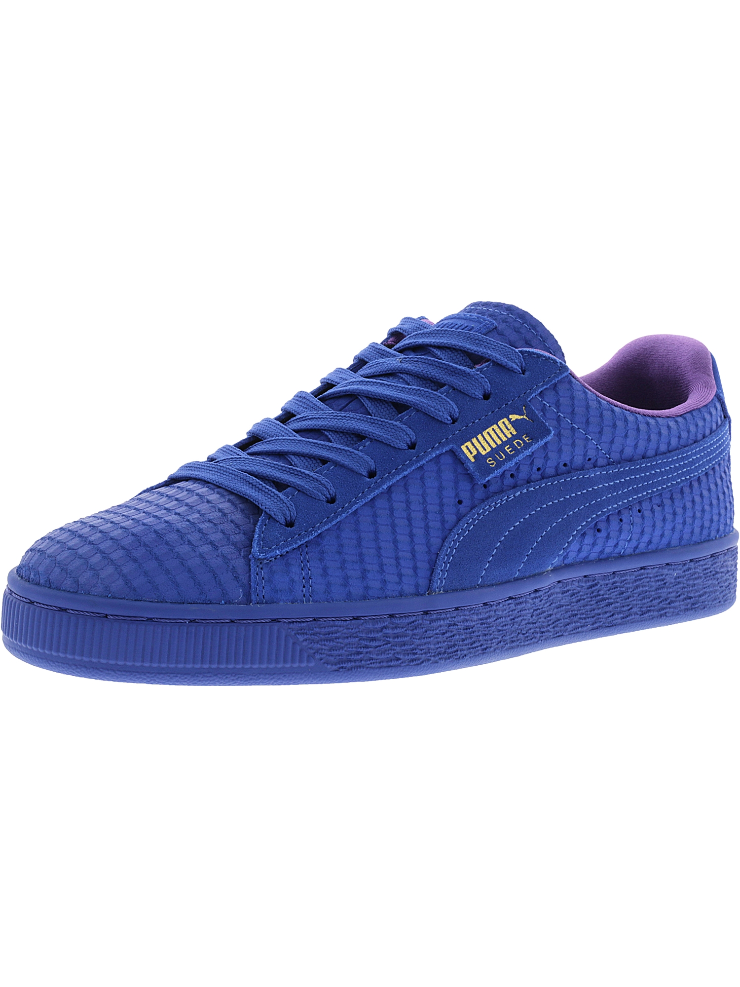 Puma Men's Suede Classic Archive Aop Royal / Team Gold Ankle-High Fashion Sneaker - 11M