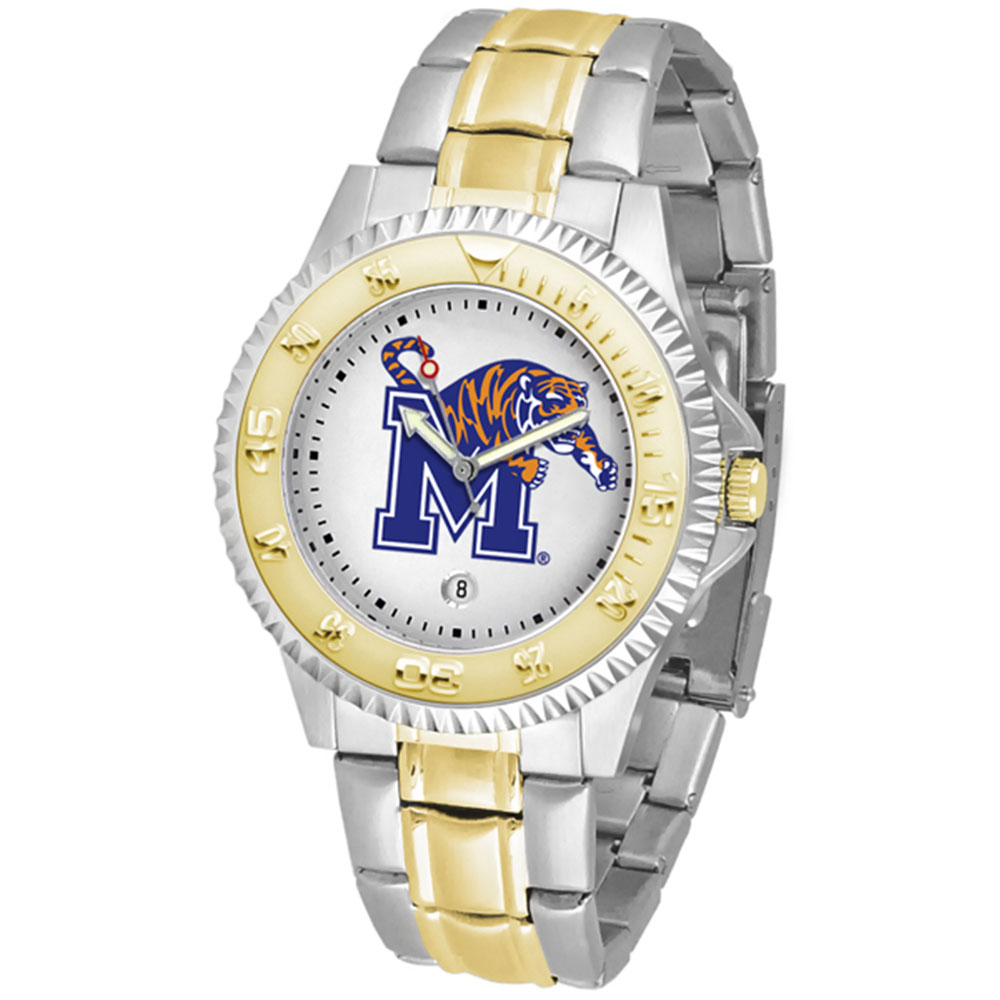 "Memphis Tigers NCAA ""Competitor"" men's watch (2-Tone Stainless Steel Band)"