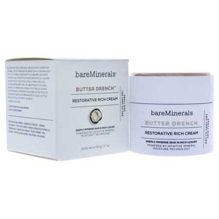 Extra Rich Cream (Butter Drench Restorative Rich Cream by bareMinerals for Unisex - 1.7 oz Cream)